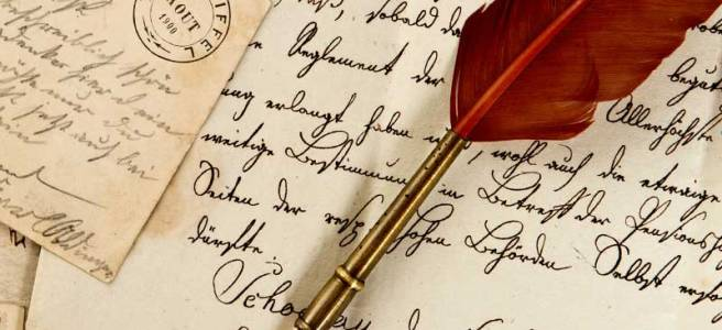 writing-paper-letters-antique-quill_credit-shutterstock